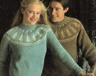 b818a8e4e093d Fair-Isle Sweater Vintage Knitting Pattern Instant Download from ...
