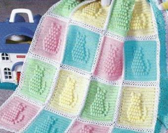 Crochet Baby Kitty Cat Blanket, Crochet Pattern. PDF Instant Download