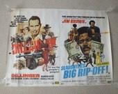 LOT of 6 vintage UK Quad Movie Posters