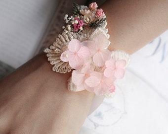 Preserved flower bracelet