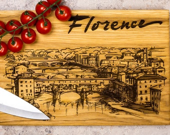 Florence Italy, Firenze, province art, city art, home decor for kitchen, tourist gift, decoration ornament