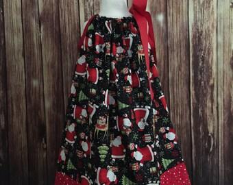 Christmas Pillowcase dress, Christmas pillowcase dress with Santa, Dress  for Christmas, Pillowcase dress with Santa Claus