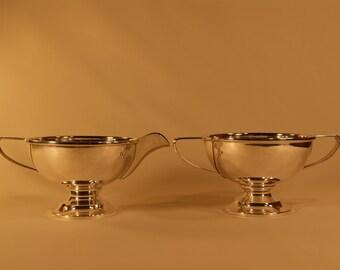 Frank W. Smith Sterling Silver Sugar Bowl Creamer Set Pedestal No Monogram 226g A1675