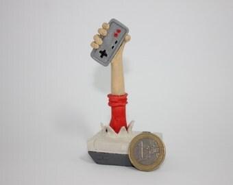 "Nes figure ""8-bit childhood"" Designer handmade, plastic figurine game"