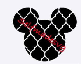 quarterfoil mickey mouse head