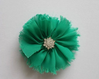 Teal Green Bling Flower Headband