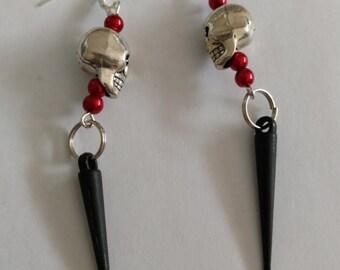 Skull dagger earrings
