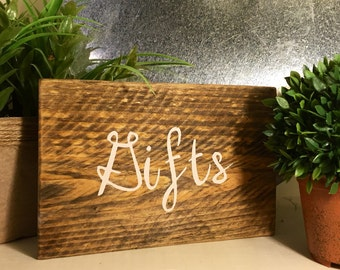 Rustic Gift Sign, Gift Table Sign, Wood Gift Sign, Wedding Signage, Rustic Wedding Sign