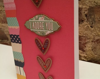 Valentine's Day // I Adore You Card