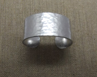"Hammered Aluminum Cuff 1"" Wide"