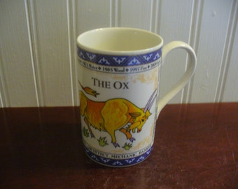 Dunoon Scotland Stoneware Chinese Zodiac Year of The Ox Mug