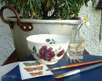 Royal Osborne sugar bowl~vintage valentine gift~Royal Osborne~Rose sugar bowl~vintage sugar bowl~vintage china~old china~vintage~bowl~