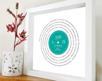 The Smiths - This Charming Man - Retro VINYL SONG SINGLE Print - Morrissey - Manchester | Valentine's Gift for him | Framed Song Lyrics