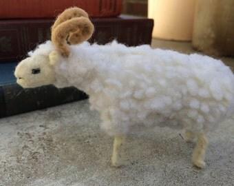Sheep Soft Sculpture, Ram Felt Sculpture