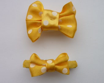 Toddler hair bow set, One for me, one for teddy