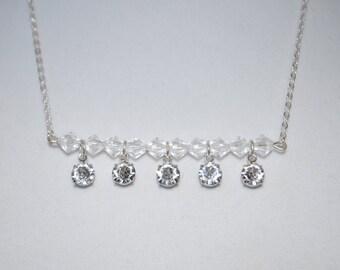 Swarovski Crystal Beaded Bar Necklace