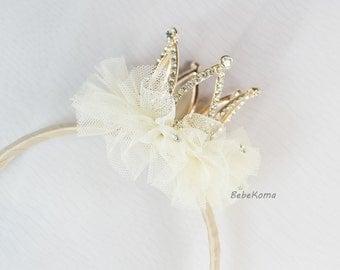 Baby Crown headband, tiara headband, girls tiara, crown headband, rhinestone crown, girls tiara headband, baby tiara, crown headbands,