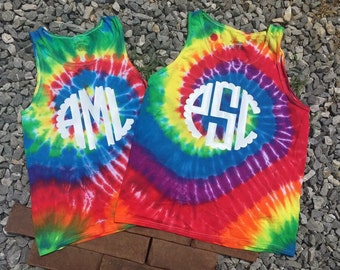 Personalized Tie Dye Tank Top