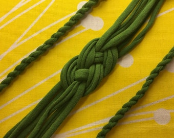 Upcycled Sailor Knot Headband - Green