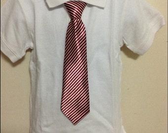 Garnet stripe elastic band necktie for children