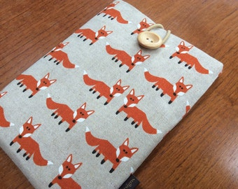 "Kindle paperwhite cover, kindle voyage, 6"" Fire HD, Kobo, Nook cover case, orange foxes"