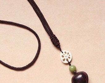 Ivory nut Bodhi seed necklace