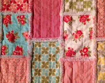 Handmade rag quilts