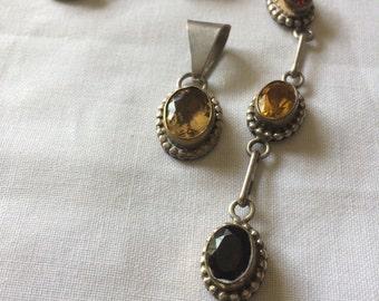 Vintage 12kt GF over Sterling Bracelet and Pendant