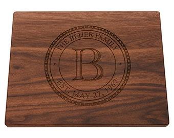 Cutting Board, Wedding Gift, Housewarming Gift, Engraved Board, Anniversary Gift, Wood Cutting Board