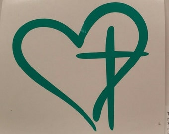 Cross Your Heart Decal - Vinyl Decal- Yeti Decal - Car Decal Sticker