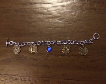 DREAM Charm Bracelet STARS MOON
