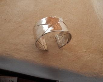 Silver 950, completely handmade woven bracelet