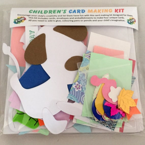 Childrens Card Making Kit Includes Cards Envelopes Shapes