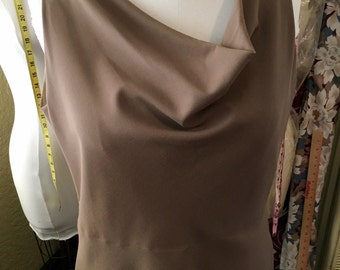 Taupe A-Line Sleeveless Cowl Dress (Size 18-20)