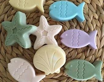 Fish,Starfish or Shell Soaps, Coastal,Nautical,Ocean,Bath