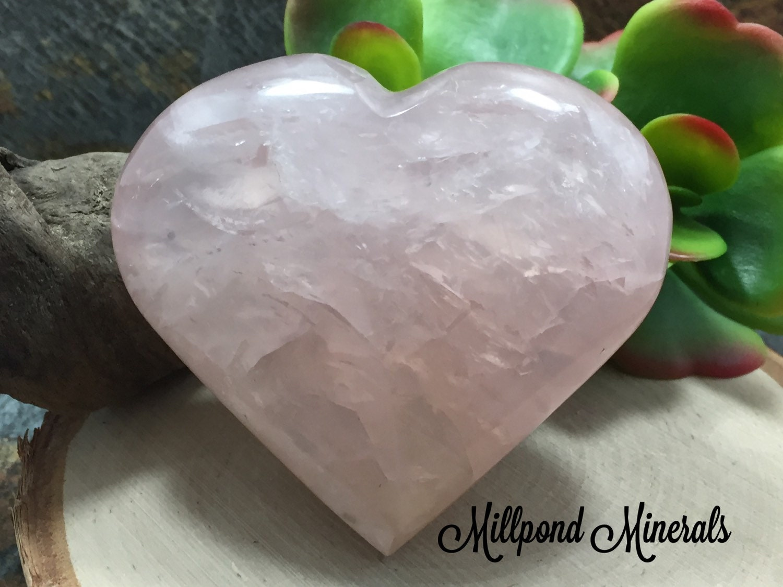 Decorative Quartz Rocks Rose Quartz Heart Raw Rose Quartz Crystal Heart Decorative