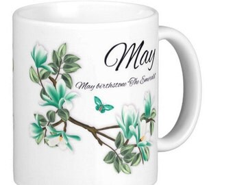 Birthday Birthstone, May, Emerald Birthday, Gift Mug