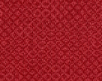 "16"" Square Pillow, Hanover Claret Red"