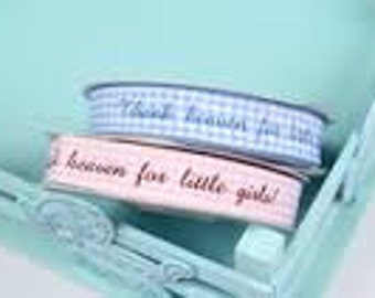 Thank Heaven for Little Girls Pink Gingham Ribbon