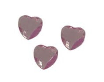 Mini heart acrylic rocks
