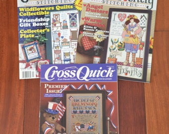 3 Cross Stitch book set