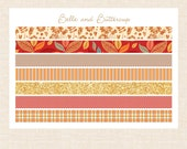 The Pumpkin Spice Washi Style Planner Stickers - Matte or Glossy