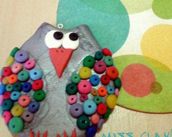 Keychain OWL colorful FIMO / Owl KeyChain