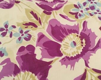 Vintage Tablecloth Purple Flowers
