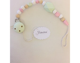 Pacifier - Mint / pink
