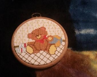 BeautI fully teddy bear cross stitch