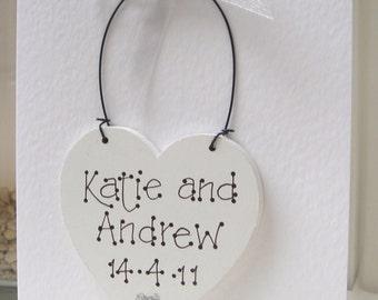 Keepsake Wedding Day Card|  Wedding Congratulations Card | Anniversary Card | Engagement Card