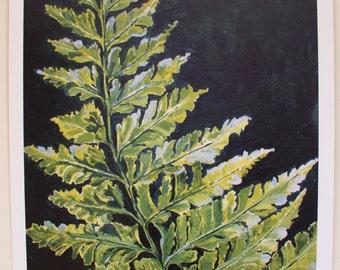 Fern leaf A3 litho print