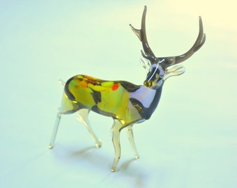 Glass Deer Figurine