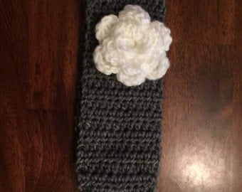 Hand crocheted flower headband